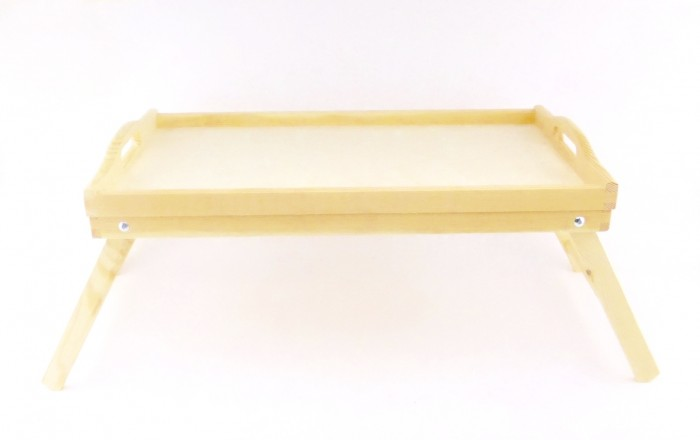 tray serving breakfast large natural colour wooden with folding legs woodeew ebay. Black Bedroom Furniture Sets. Home Design Ideas