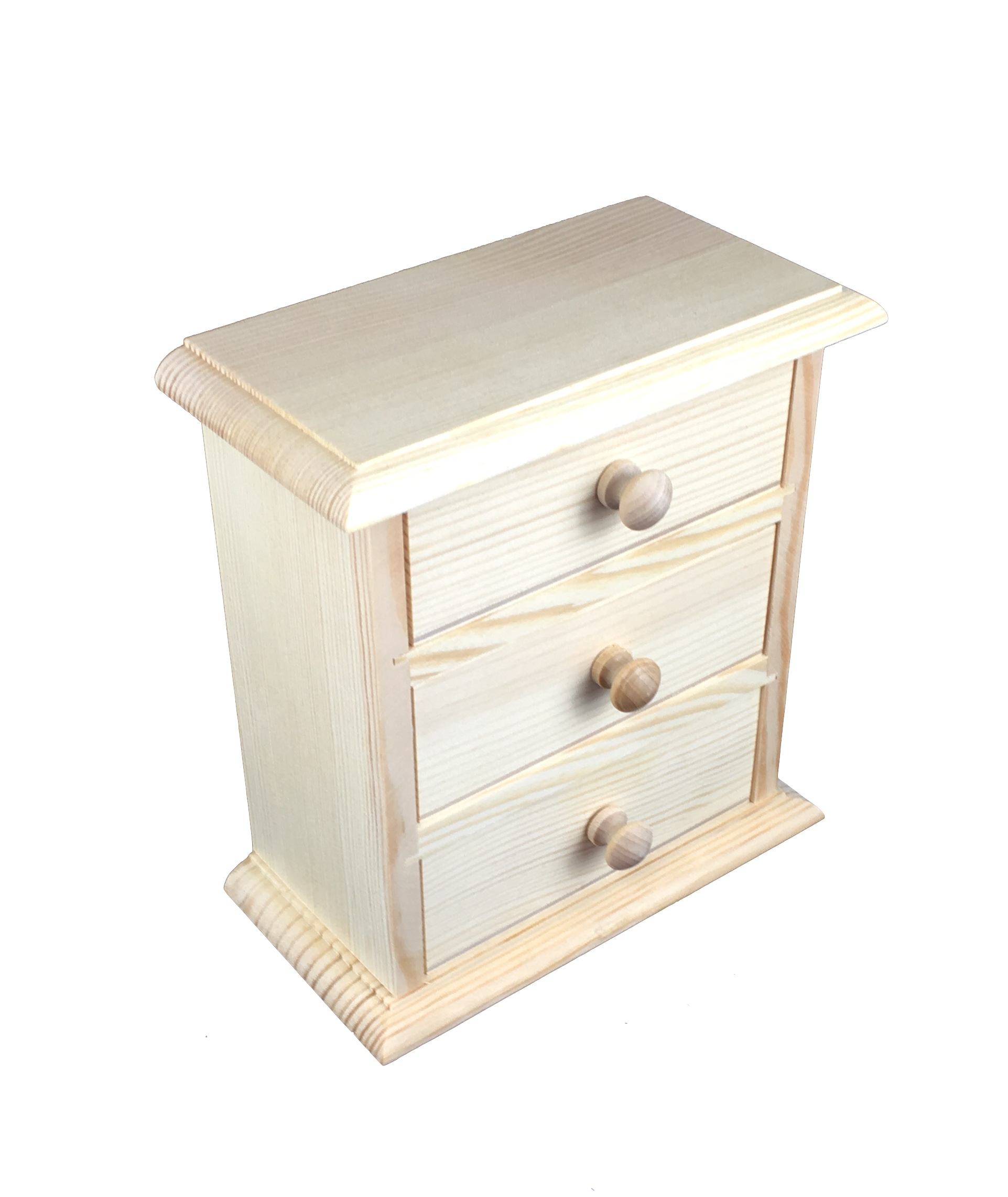 Drawer Mini Drawer 3 Drawers Plain Wood Decoupage Woodeeworld